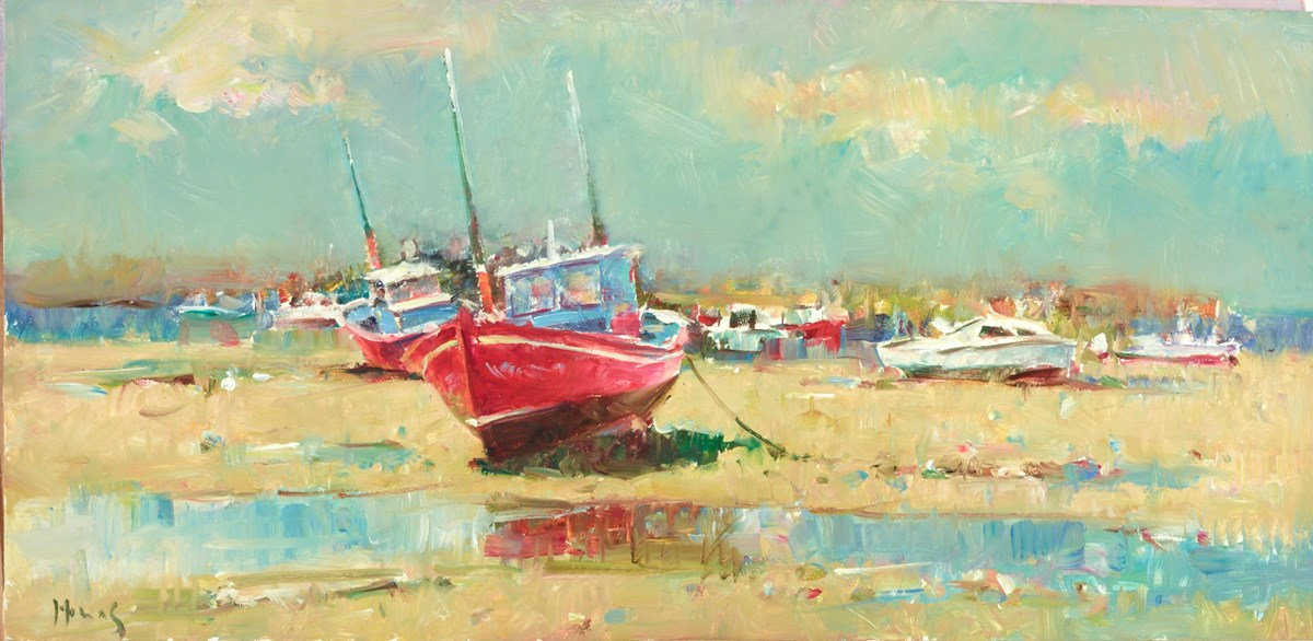 Seaside at Low Tide by helios -  sized 16x8 inches. Available from Whitewall Galleries